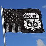 wallxxj Fahne Abgenutzte Usa Flagge Route 66 Urlaub Autobahn Straßenschild 1 Baseball Home Decor Drucken Bunte Outdoor Basketball Indoor Sport Hockey 90X150Cm Hübsch