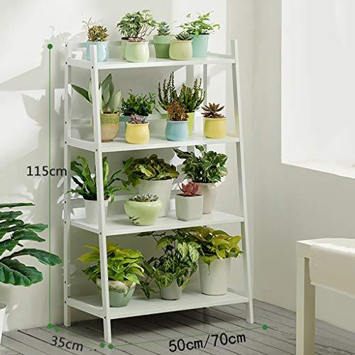 Support de fleurs Bamboo Landing Multi-layer Rack succulent intérieur Balcon pot rack Etagère de salon trois couleurs Longueur 50cm / 70cm (Couleur : C, taille : 70 * 35 * 115cm)