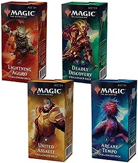 Magic the Gathering MTG 2019 Challenger Set of All 4 Decks
