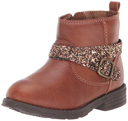 Carter's Girl's Ankle-Boot, Brown, 7 M US Toddler