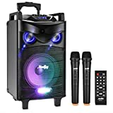 Altavoces de Karaoke Moukey Bluetooth Sistema de Karaoke Potencia pico 200 W...