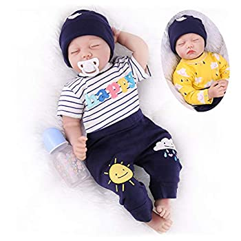 CHAREX Reborn Baby Dolls Sleeping 22 Inch Realistic Reborn Newborn Baby Dolls Lifelike Real Baby Dolls That Look Real Soft Vinyl Silicone Baby Reborn Dolls