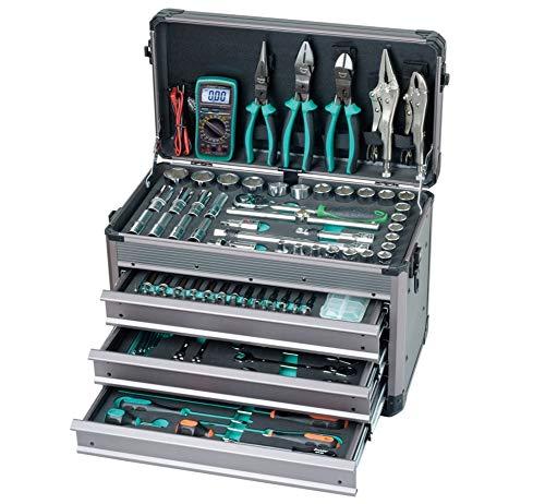 HYLH 124 en 1 Juego de herramientas profesionales de mangas manuales. Electricista profesional. Mantenimiento de automóviles y entusiastas de bricolaje