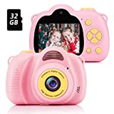 Fede Kids Digital Camera with 32GB TF Card, Rechargeable Selfie Camera, Digital Child