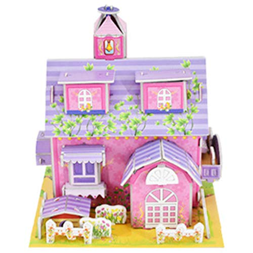 sunnymi Puzzles for Adults and Children,3D DIY Jigsaws Castle Model Cartoon House Assembling Paper Toy Kid Early Learning,Educational DIY Toy Game Interesting Holiday Birthday Gift