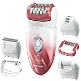 Panasonic ES-ED90-P Wet/Dry Epilator and Shaver, with Six Attachments including Pedicure Buffer for...