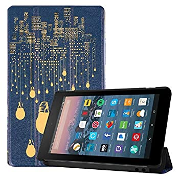 Maomi for Amazon Kindle Fire 7 case 2019/2017 Release 9th/7th Generation - PU Leather Cover with Auto Wake/Sleep  City Night