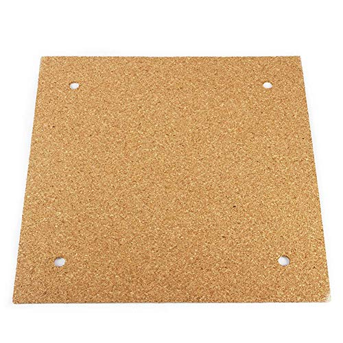 SparY Isolierung Brett, Ender 3 Kork Thermo Insulator Hot Bett Unten Isolierung Brett 3M Klebeband für 3D Drucker Zubehör - 23.5x23.5cm, 23.5x23.5cm