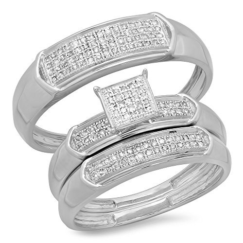 Micro Pave Cluster White CZ Polished Ring .925 Sterling Silver Band Sizes 5-10