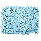 Simply Elegant 16' x 24' Artificial Hydrangea Flower Wall Panel - 12 Pieces – Create DIY Flower Wall for Weddings, Baby Showers, Birthdays and Photo Backdrop (Blue)