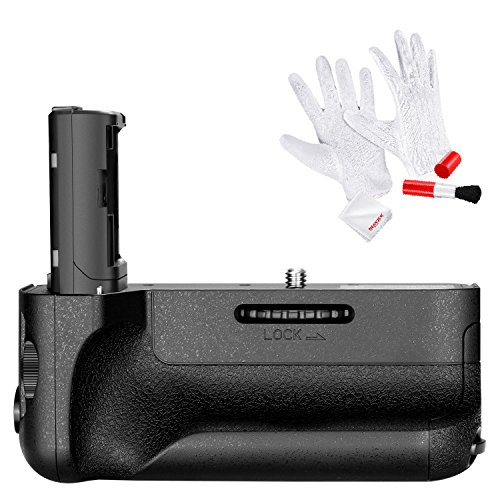 Neewer Impugnatura Portabatteria Verticale Sostitutiva VG-C2EM Funziona con Batteria NP-FW50 per Camere Sony A7 II & A7R II con 3-in-1 Kit di Pulizia