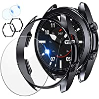 【COMPATIBILITY】Suit Samsung Galaxy Watch 3 2020 ( SM-R850 SM-R840 ) perfectly. Both screen protectors and bumper covers give nice snug fit. NOTE: Not compatible with Galaxy Watch 46mm/42mm 2018. 【4 PACKS】 Include 2 packs of tempered glass screen prot...