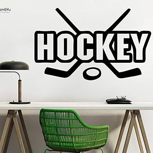 mlpnko Wandtattoos Hockey Wanddekoration Sport Putter Waschmaschine Jugend Vinyl entfernbare Wandaufkleber 75x126cm