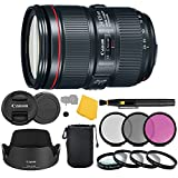 EF-Mount L-Series Lens/Full-Frame Format - Aperture Range: f/4 to 22 Canon 24-105 mm II - Four GMo Aspherical Elements - Air Sphere Coating Ring-Type Ultrasonic Motor AF System - Optical Image Stabilization Internal Focus; Full-Time MF Override - Zoo...