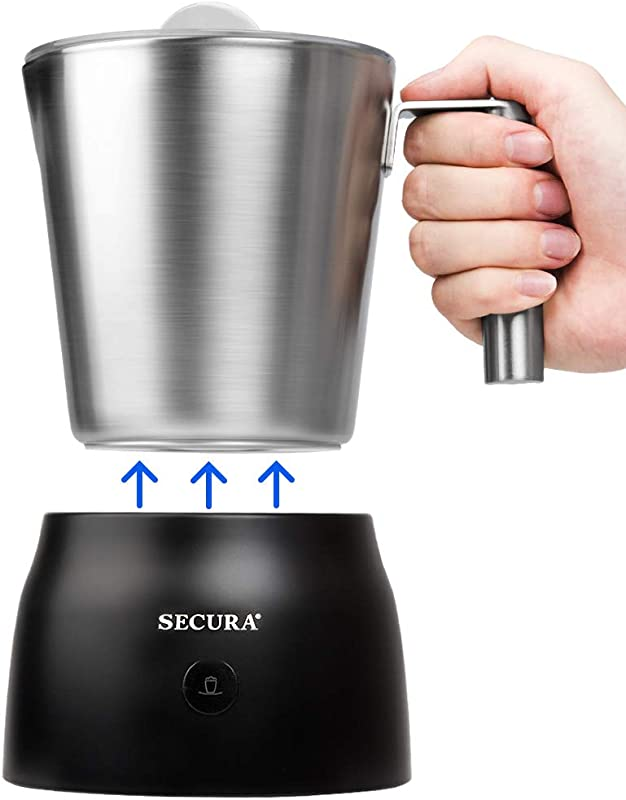 Secura 4 In 1 Electric Automatic Milk Frother And Hot Chocolate Maker Machine 8 45 Oz Stainless Steel Dishwasher Safe Removable Milk Jug