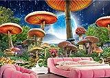 Murales 3D Papel Tapiz Decorativos Seta Sueño Luna Bosque Dormitorio Fotomurales Papel Pintado Wallpaper
