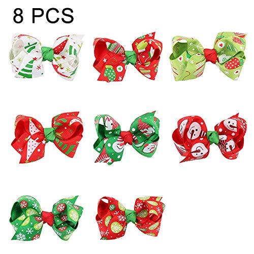 BZN 8 in 1 Ornament Schmetterlings-Knoten-Bunte Band Hairpin Set