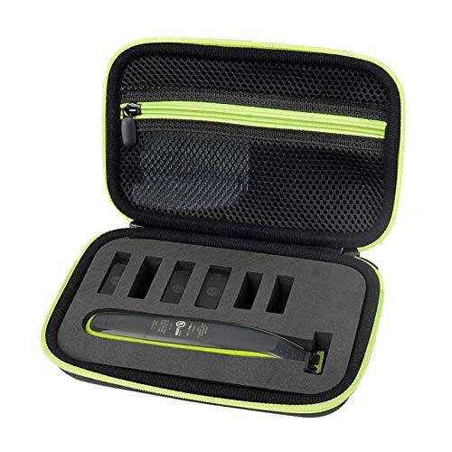 Courti - Funda de viaje rígida para Ph-ilips OneBlade QP2520/90 QP2520/70 Hybrid Trimmer Shaver, color negro y verde
