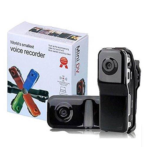 ECSEM Mini DV MD80 Mini DV DVR Sports Video Recorder Hidden/Spy Camera Camcorder Webcam- Black, [Importado de UK]