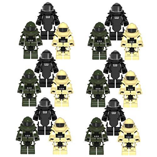 PARIO 18St. EOD Custom Rüstung Set für Bundeswehr Pionier Mini Figuren SWAT Team Polizei, kompatibel mit Lego