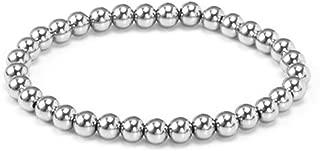 Stainless Steel 18K Gold Plated Bead Elastic Bracelet
