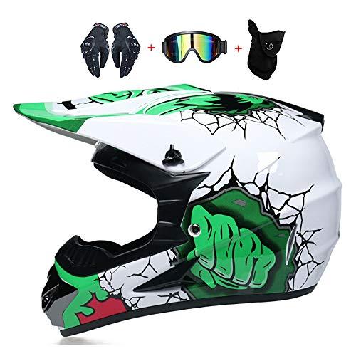WLBRIGHT Adulto Juvenil Downhill Casco Regalos Gafas Gafas Máscara Guantes BMX MTB...