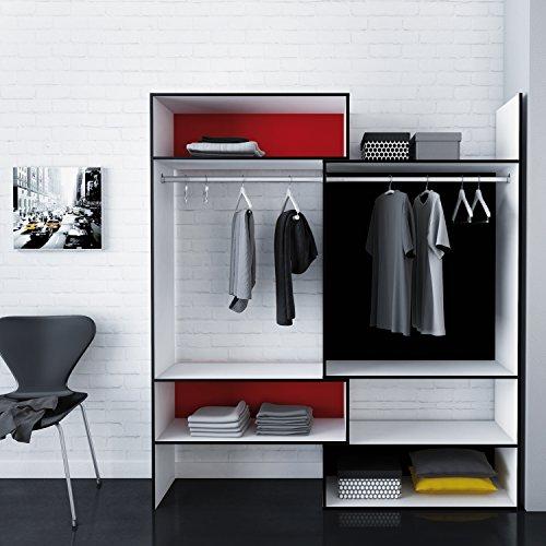 habeig RIESIGER Kleiderschrank Combo begehbar offen Garderobe Schrank Regal Schublade