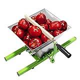 AufuN Molinillo de fruta, triturador de fruta, molinillo de maíz manual con manivela, prensa de fruta para manzana (7 L, molinillo de frutas)