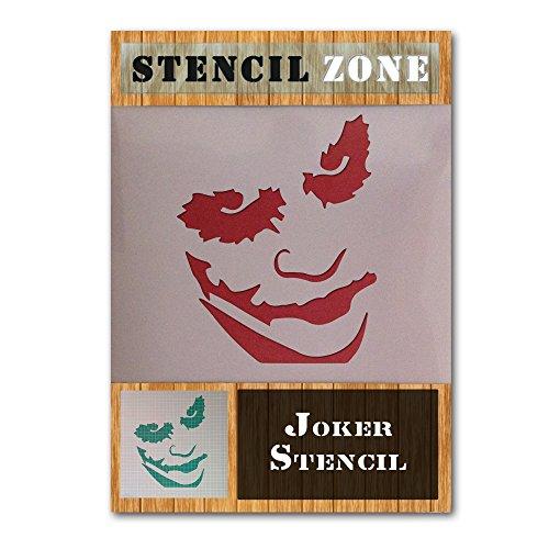 Joker Batman Charakter Gesicht Mylar Airbrush Malerei Wand-Kunst-Handwerk-Schablone 2 (A3 Größe Stencil - Medium)