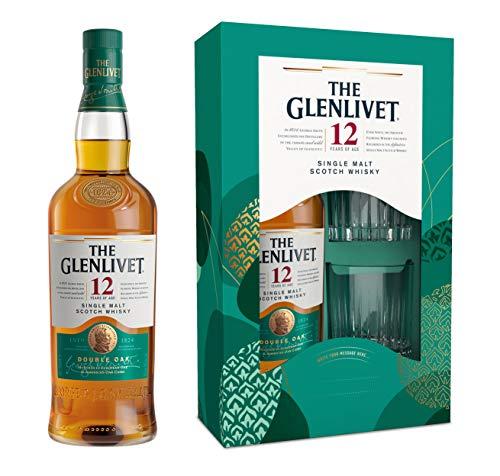 Glenlivet 12 Jahre mit Geschenkverpackung und 2 Gläsern Whisky (1 x 0.7 l)