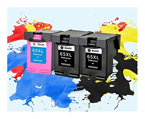 LIUYB Reemplazo 65XL Cartucho de Tinta for HP 65 XL HP65 for HP DeskJet3720 3722 3755 3730 3758 5010 5020 5030 Envidia 5232 Impresora (Color : 2BK 1C)