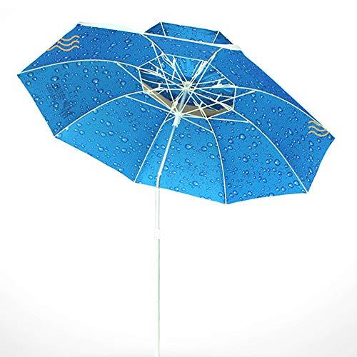 Ajustable Inclinable Jardín Parosol, 2,2 m / 7,2 pies Gran Pantalla Voladizo Paraguas Sun Autoportante Impermeable Protectora UV para Terraza Jardín Playa Piscina Patio Toldo de Sombrilla,Azul,Normal