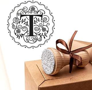 Timbro Lettera T Iniziali Timbri Lettere Alfabeto Monogramma T Idee Regalo Aziendale