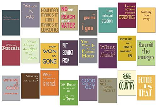 tom bäcker Denglisch Postkarten Set/Mix - 24 Karten - Nr 2 - ADVENTSKALENDER - Engleutsch for Oncatcher Die besten Denglish Sprüche - lustig - Geschenk für Lehrer