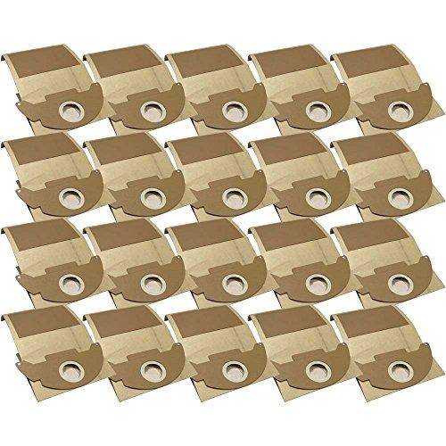 20 Industrie- Baustellen- Gewerbe- Heavy Papier Staubsaugerbeutel passend für Kärcher 2501, TE - 2501 TE, 6.904-143