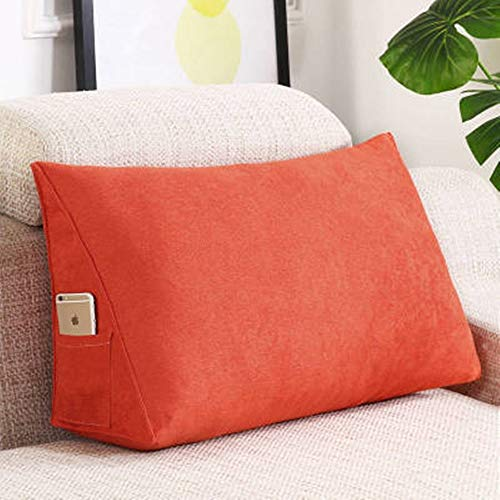 Dfghbn Wedge Pillow Lumbar Vertebra Bed Lumbar Support Triangle Pillow Lumbar Support Pillow For Sleep, Reading And After Surgery for Reading and Watching in Bed (Color : Three, Size : 70x35x20cm)