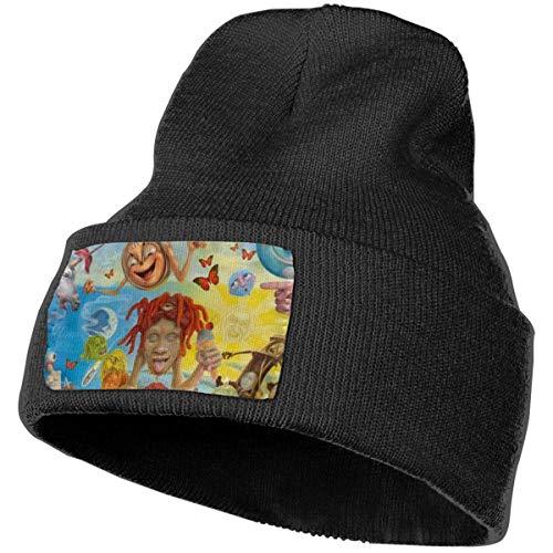 Hdadwy Moda Trip-Pie Re-DD Knit Hat Sombreros de Invierno Tejidos Unisex Warm Ski Sombreros Negro