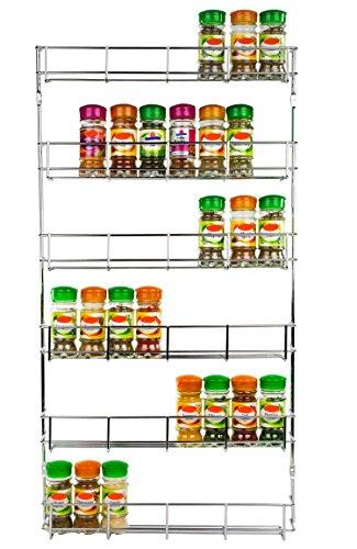 Andrew James - Gewürzregal - 6 Etagen - Zur Befestigung an Wand oder Küchenschrank