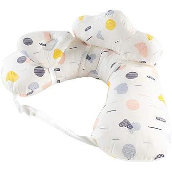 ウィードマップ 授乳クッション 赤ちゃん授乳枕 洗える サポート枕 抱き枕 ベビー枕 45°科学授乳 マタニティ カバー付き ミニ枕は取り外せる 綿 赤ちゃん用品 妊娠用 ホワイト