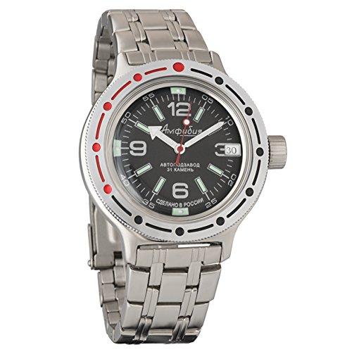 Vostok Amphibian 420640Ruso Militar reloj 2416b 200m auto