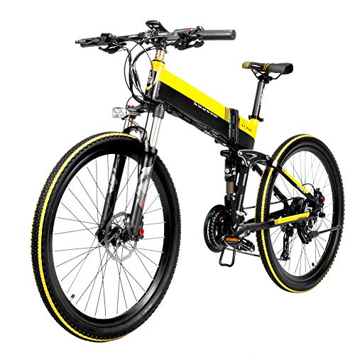 YZCH Electric Bike,Electric Folding Bike Bicycle Portable Brushless Motor Foldable for Cycling Outdoor