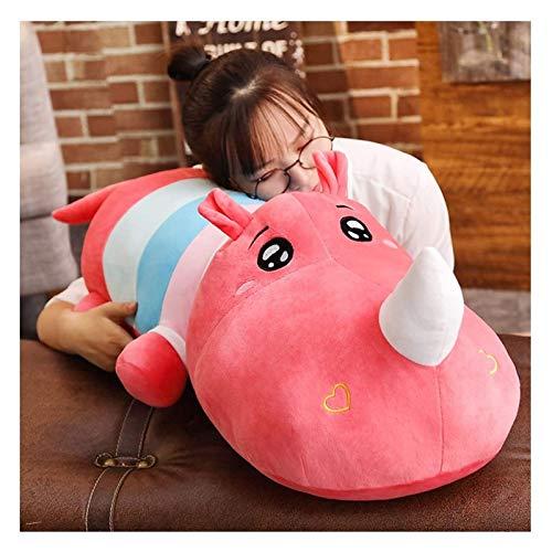 RSBCSHI Große Plüschkissen Gefüllte Tierspielzeug Kinder Erwachsene Valentines Geburtstagsgeschenk für Wohnkultur Kuschelige Umarmung Kissen Weiche lumbäre Rückenkissen (Color : Pink, Size : 100cm)