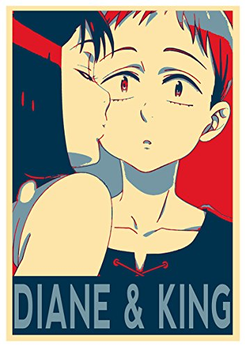 Instabuy Poster Seven Deadly Sins Propaganda Diane & King - A3 (42x30 cm)