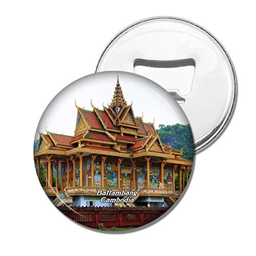 Weekino Kambodscha Battambang Fledermaushöhlen Bier Flaschenöffner Kühlschrank Magnet Metall Souvenir Reise Gift