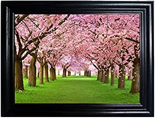 SEASONS FRAMED Wall Art--Lenticular Technology Causes The Artwork To Flip-MULTIPLE PICTURES IN ONE-HOLOGRAM Type Images Change--MESMERIZING HOLOGRAPHIC Optical Illusions By THOSE FLIPPING PICTURES