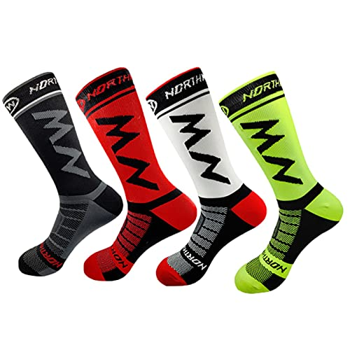 Shawari Calcetines de Ciclismo Calcetines de compresión Calcetines de Hombre Calcetines de Mujer Calcetines de Correr Calcetines de Baloncesto Calcetines Deportivos Calcetines de Mujer