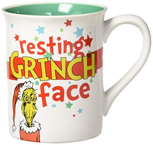 Department 56 Resting Grinch Face Stoneware Mug, 16 oz, Multicolor