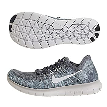 Nike Mens Free RN Flyknit 2017 Blue Fox/Pure Platinum/Wolf Grey/White Running Shoe Size 14 US