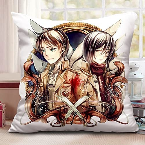 Square Long Beach Mall Double-Sided Printing Pillow Attack On Challenge the lowest price Titan Animation P