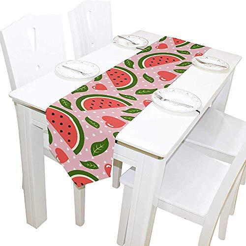 Tiffany Church Mantel Individual de Mesa, manteles Individuales de sandía para decoración de Comedor de Banquetes, 33x229cm
